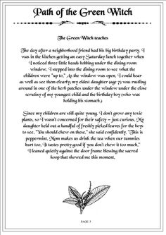Path of the Green Witch 5...- Pinned by The Mystic's Emporium on Etsy