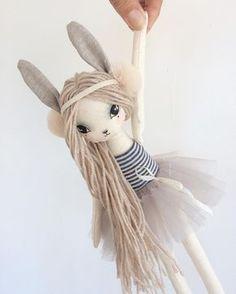 NEW Lola Bunny Girl...coming soon #bunny #easter #doll #handmade #loladoll #clothdoll #bunnytoy #girl #theselittletreasures