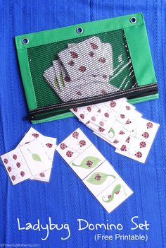 Download this free printable ladybug domino set! Use as a busy bag or as a game between friends.