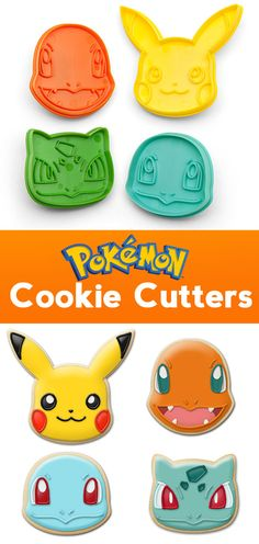 Pokemon Cookie Cutters