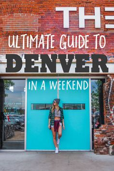 It's a dangerous business, visiting Denver, Colorado—because even one weekend in this hip and modern city might just convince you to stay. Denver's Downtown area offers a plethora of brewpubs, rooftop bars, organic restaurants and world-class galleries and museums to delight everyone from trendsetter to outdoorsy type.