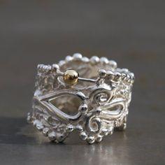 Bague indienne, anneau large en argent
