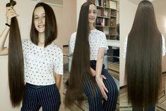 Long Hair Ponytail, Ponytail Hairstyles, Girls Short Haircuts, Short Girls, Long Hair Cuts, Long Hair Styles, Rapunzel Hair, Super Long Hair, Beautiful Long Hair