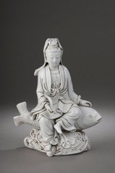 Fortune, Carpe, Lord Vishnu, Floating In Water, Porcelain Clay, Guanyin, Buddhist Art, Beautiful Textures, Shades Of White