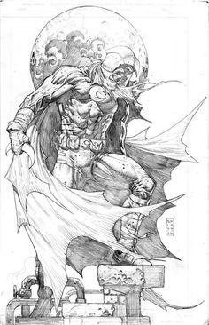 Moon Knight by Stephen Platt Comic Book Artists, Comic Book Characters, Comic Artist, Comic Books Art, Arte Dc Comics, Fun Comics, Comic Drawing, Cartoon Drawings, Marvel Moon Knight