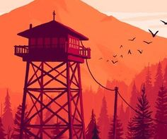 Firewatch - PS4 & PC - http://www.jeuxvideo.org/2016/05/firewatch-ps4-pc/