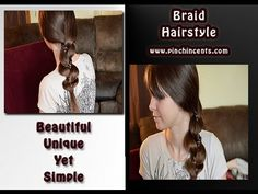 Beautiful Unique Yet Simple Braid Hairstyle