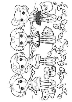 Lalaloopsy Doll coloring page for