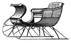 sleigh antique illustration - Google Search