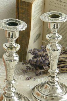 アンティーク キャンドルスタンド French antique Silver Candle Stand