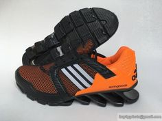 classic fit fd6dd 078fb Mens Adidas Springblade V Mesh Running Shoes Orange Black  cheapshoes   sneakers  runningshoes