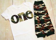 Camo 1st Birthday Shirt - Birthday ONE Shirt - Boy Birthday Outfit - Birthday Age Shirt for Boys, Army, Navy, Marine, Camoflague.