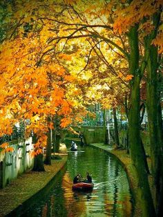 Autumn, Utrecht, The Netherlands  I was not here in autumn but in spring.  A great place to visit and I really like the food.  My fondest memories of places always involve all the 5 senses..