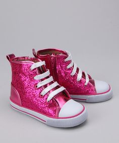 Take a look at this Launch Hot Pink Hi-Top Sneaker by Sparkling Shoes Collection on #zulily today!