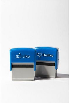 like and dislike stamps.  Fun office gadgets.