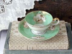 I love antique tea cups
