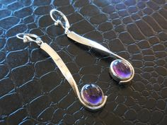 Sterling Silver and Amethyst Gemstone Earrings