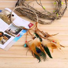 Fashion Festival Feather Headband Hippie Headdress Hair Accessories Boho new