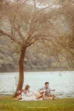 Fairytale country style engagement photo