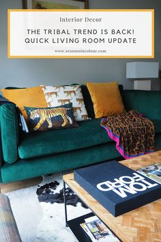 Latest from Seasons in Colour Living Room Photos, Living Room Update, Yellow Cushions, Cushions On Sofa, Decorating Blogs, Interior Decorating, Emerald Green Sofa, Sofa Workshop, Cornforth White