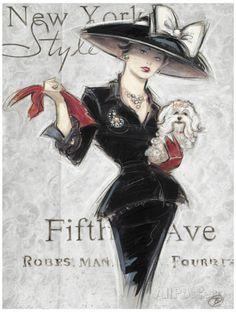 New York Style Lady Julisteet tekijänä Chad Barrett AllPosters.fi-sivustossa