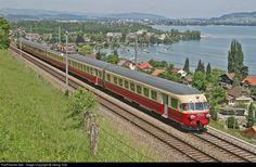 RailPictures.Net Photo: 1053 SBB Historic RAe TEE II at Spiez, Switzerland by Georg Trüb