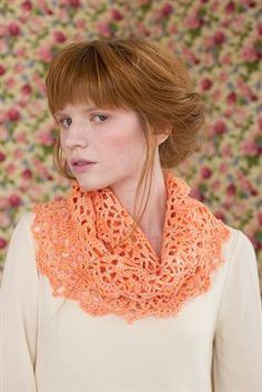This crochet lace cowl is a great way to dress up a spring outfit. Mango Infinity Cowl