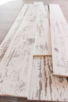 Timeline Wood Distressed White Wood Panels