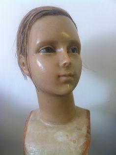 victorian antique wax mannequin head