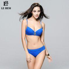 $21.00 (Buy here: https://alitems.com/g/1e8d114494ebda23ff8b16525dc3e8/?i=5&ulp=https%3A%2F%2Fwww.aliexpress.com%2Fitem%2F2016-LE-BESI-New-Women-Sexy-Beach-Push-Up-Bikini-Set-Mid-Waist-Swimwear-Scrunch-Swimsuit%2F32527577479.html ) 2016 LE BESI New Women Sexy Beach Push Up Bikini Set Mid Waist Swimwear Tow Piece Bikini Scrunch Swimsuit Pure Color BathingSuit for just $21.00