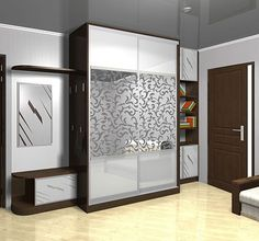 نتيجة بحث الصور عن ‪glass wardrobe door designs for bedroom indian‬‏ Cupboard Design, Wardrobe Design Bedroom, Bedroom Furniture Design, Door Design, Modern Living Room Interior, Small Bedroom Closet Design, Bad Room Design, Bedroom Design, Furniture Design