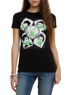 Fitted tee from 5 Seconds Of Summer with a crossed out faces design.Available only at Hot Topic!