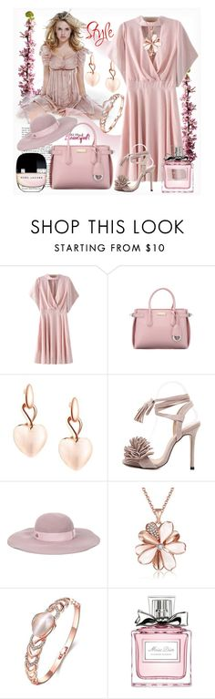 """""""Pink styling"""" by ane-twist ❤ liked on Polyvore featuring Maison Michel, Christian Dior, outfit, Elegant, fashionWeek and polyvoreeditoria"""