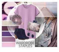 """""""L is for Lavender"""" by mmmartha ❤ liked on Polyvore featuring Uniqlo, Coast, Kendra Scott and Sole Society"""