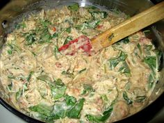 The Virtuous Wife: freezer cooking: chicken pesto alfredo penne It's a hit at dinner for us!