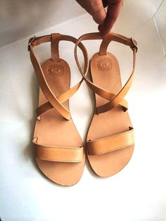 Leather sandals women wedding gladiator in by PennyHandmade, $44.00