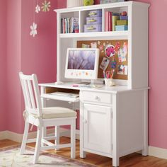 kids desks | Kids Desks & Chairs: Kids White Classic Wooden Walden Desk - White ...