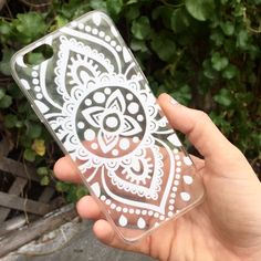 Printed on a soft, clear case, our Boho Henna iPhone Case is purely chic. Ever since we saw all of the white henna iphone cases on our Tumblr feed, we were inspired and excited to offer them to our sh
