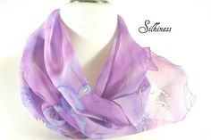 Unicorn Scarf  Fantasy Scarf. Hand Painted Silk by silkiness