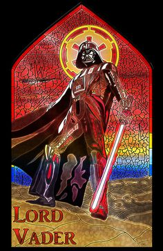 Lord Vader Stained Glass