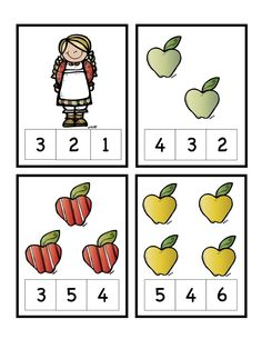 Preschool Printables: Apple For B and J Numbers Preschool, Fall Preschool, Preschool Printables, Preschool Math, Kindergarten Worksheets, Math Classroom, Apple Activities, Math Activities For Kids, Math For Kids