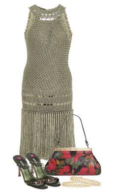 """Vanessa Montoro Dress"" by nuria-pellisa-salvado ❤ liked on Polyvore featuring Vanessa Montoro, Patricia Nash, Manolo Blahnik, summerdress, summeroutfit, polyvorecommunity and crochetdress"