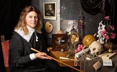 Self Portrait with vanitas symbols (after David Bailly) © Kevin Best