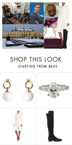 """Attending a Christmas Day service at Drottningholm Palace Chapel in the morning with Paul"" by swedish-princess ❤ liked on Polyvore featuring Rachel, Georg Jensen, MaxMara and Stuart Weitzman"