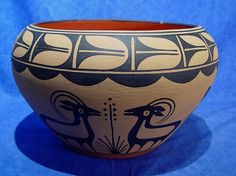 03 - Pueblo Pottery, Large Pottery jar by Vidal Aguilar of Santo Domingo Pueblo