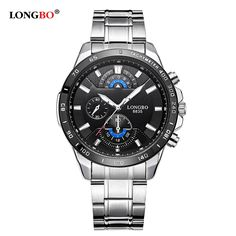 Longbo Military Men Stainless Steel Band Sports Quartz Watches Dial Clock For Men Male Leisure Watch Relogio Masculino 8835-in Quartz Watches from Watches on Aliexpress.com | Alibaba Group