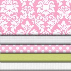 Candy Pink Damask Fabric Collection - Babybedding.com | Carousel Designs