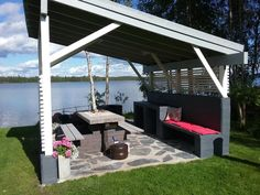 Diy Garden Furniture, Outdoor Furniture Sets, Outdoor Spaces, Outdoor Decor, Summer Kitchen, Pergola Patio, Viera, Outdoor Projects, Old Houses