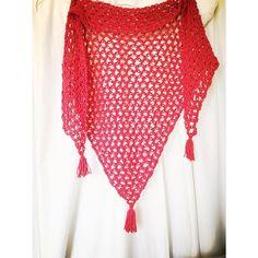 nickymirandacrochet crochet red shawl