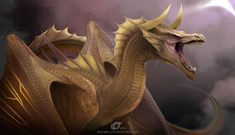 Gilar Malthen by IrenBee on DeviantArt Dark Fantasy Art, Fantasy Artwork, Fantasy Creatures, Mythical Creatures, Dragon Artwork, Dragon Drawings, Legendary Dragons, Cool Dragons, Dragon Pictures